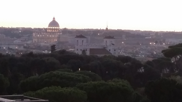 Marriott Grand Flora Rome view