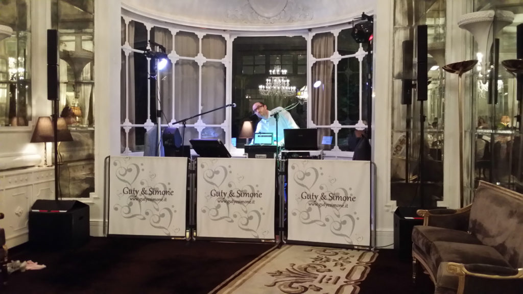 Irish wedding Hotel Majestic Rome Guty and Simone setup