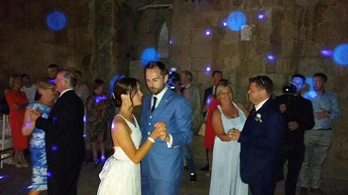 First dance at La Badia di Orvieto wedding in Umbria