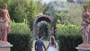 Villa Catignano wedding band Siena Tuscany