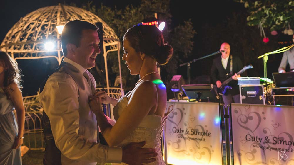 Photo took during a first dance with Guty & Simone in the background