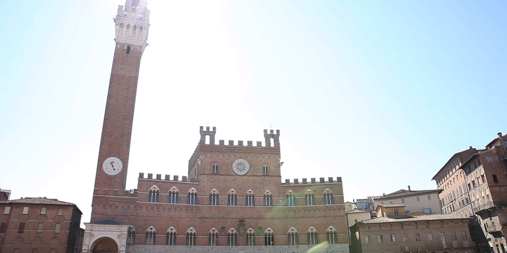 A view of Siena city center