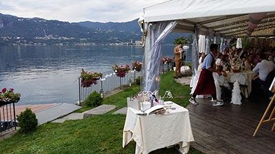 Musica matrimonio al Lago d'Orta. Una veduta del lago d'Orta dal ristorante L'Ustaria Cà dal Rat - feat img