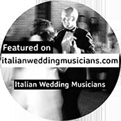 Musicisti per matrimoni Roma Italian wedding musicians badge
